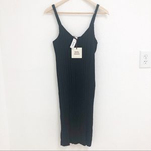 Aritzia/ Little Moon Raphia Dress in Black